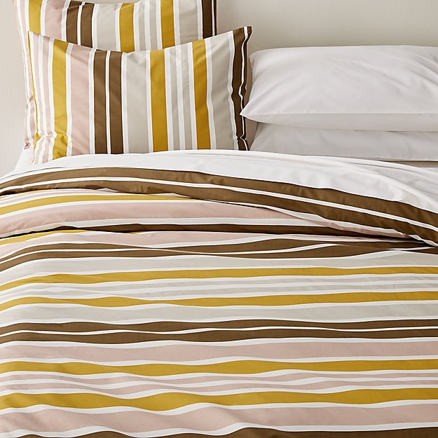 Latour Striped Percale Duvet Covers and Pillow Shams - Image 1 of 2