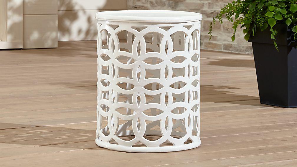 Lattice Circle Large Side Table