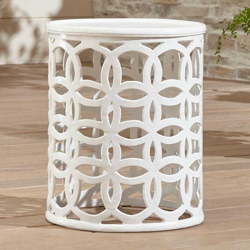 pin it lattice circle large side table metal furniture