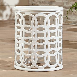 Lattice Circle Large Side Table