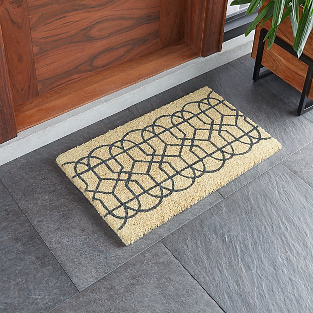 "Lattice Coir Doormat 18""x30"" - Image 1 of 3"