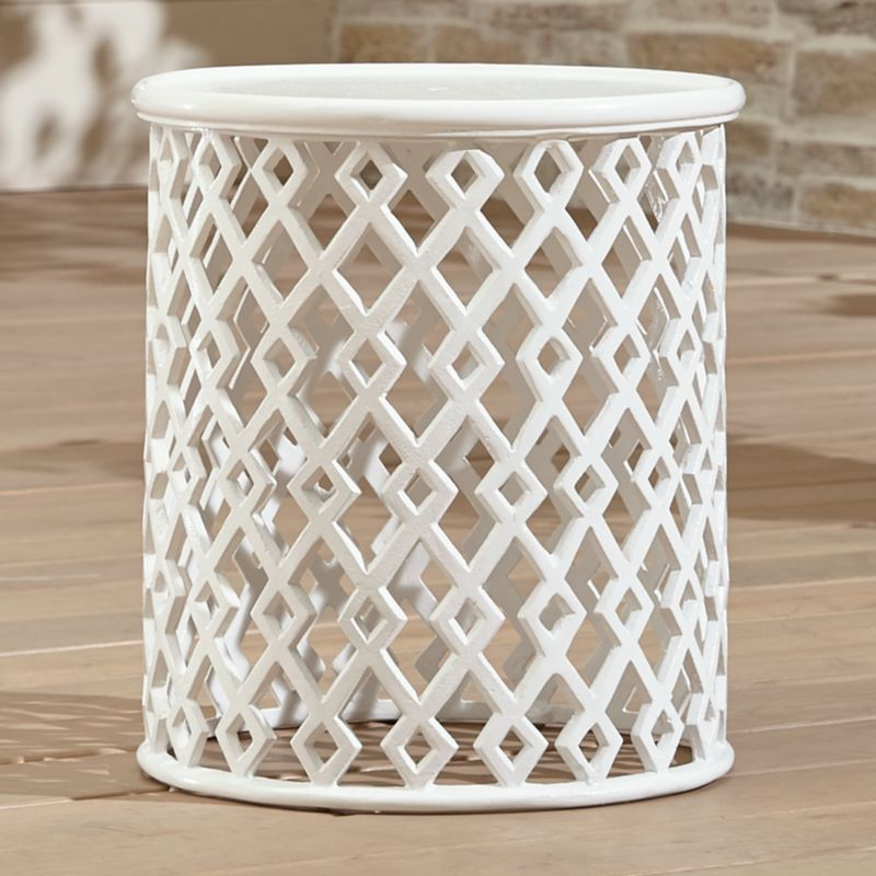 Lattice Diamond Small Side Table