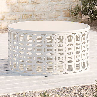 Lattice Circles White Coffee Table