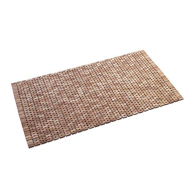 Lattice Wooden Mat Reviews Crate And Barrel