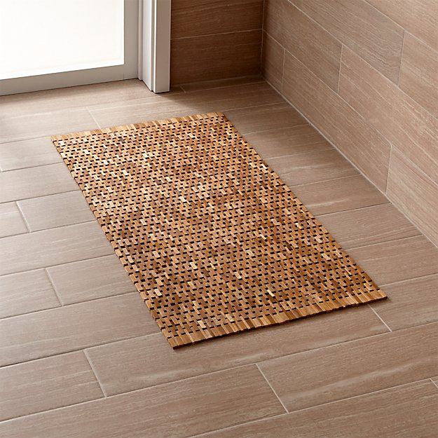 Lattice Wooden Mat Reviews Crate And Barrel
