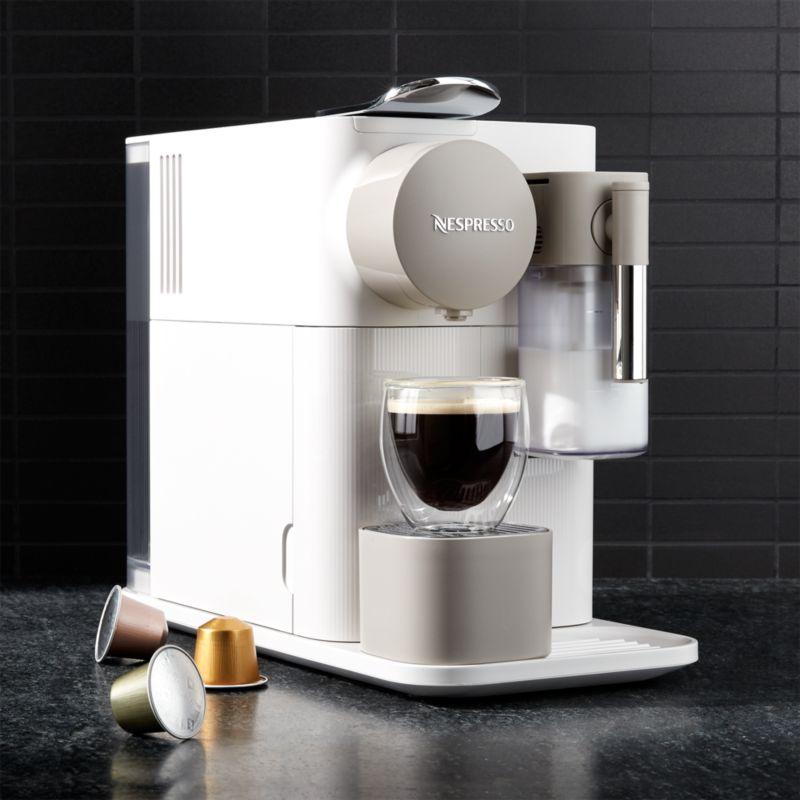 De Longhi Silky White Lattissima One Espresso Maker Reviews Crate And Barrel