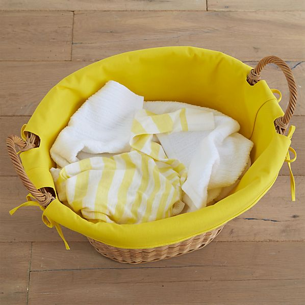 Yellow Laundry Basket Liner