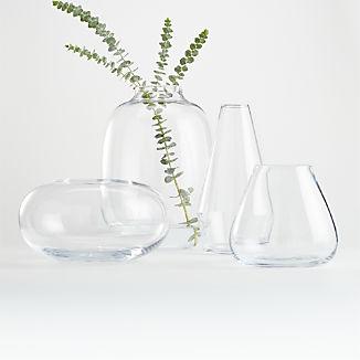Laurel Clear Vases