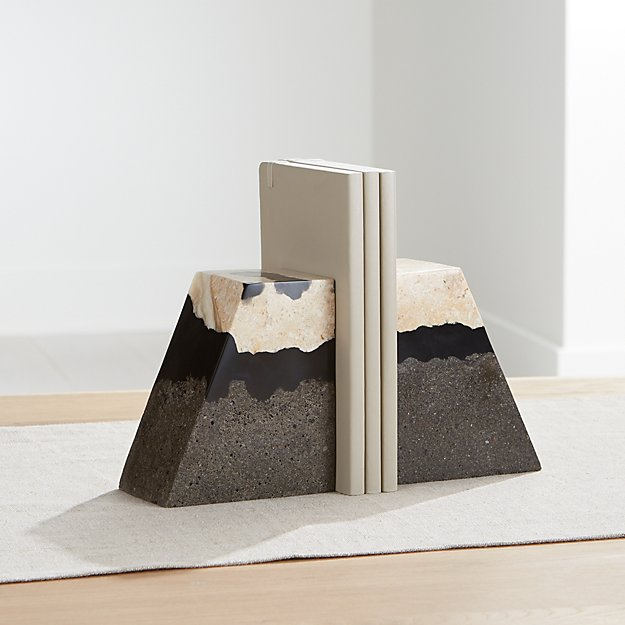 Lava Resin Stone Bookends, Set of 2 - Image 1 of 4