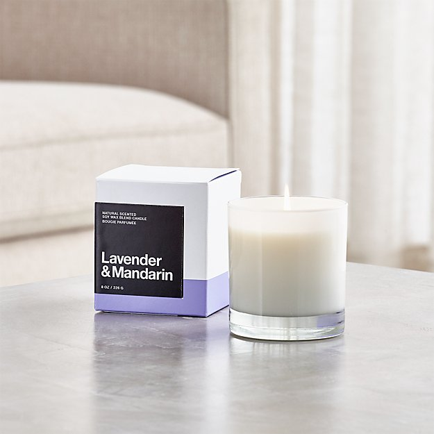 Lavender and Mandarin Scented Candle - Image 1 of 2