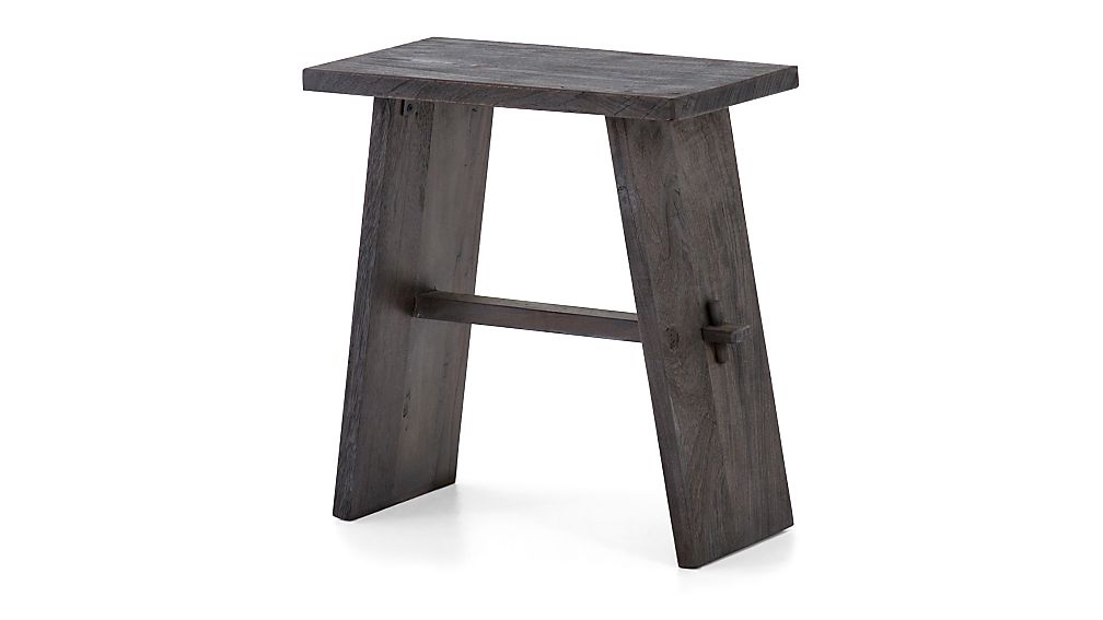 Lax Reclaimed Wood End Table - Image 1 of 7