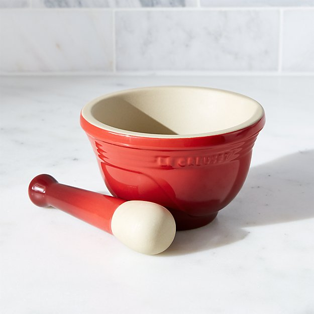 Le Creuset Cerise Mortar and Pestle