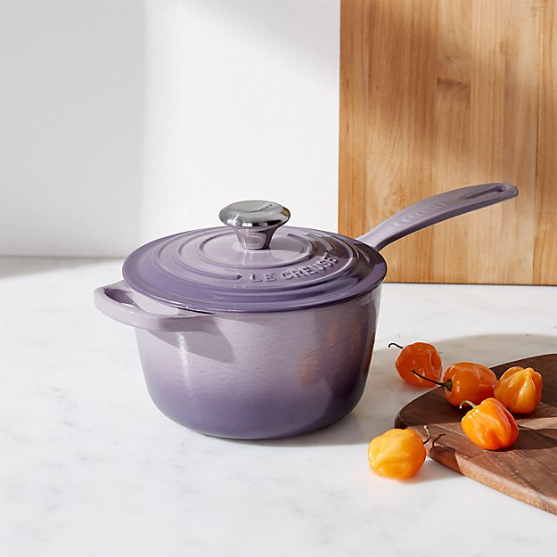 le creuset signature provence sauce pan with lid reviews crate and barrel. Black Bedroom Furniture Sets. Home Design Ideas