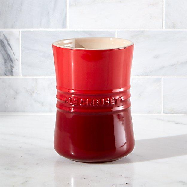 Le Creuset ® 1 Qt. Cerise Red Utensil Holder