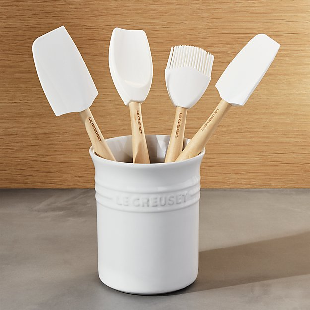 Le Creuset ® White 5-Piece Utensil Crock Set