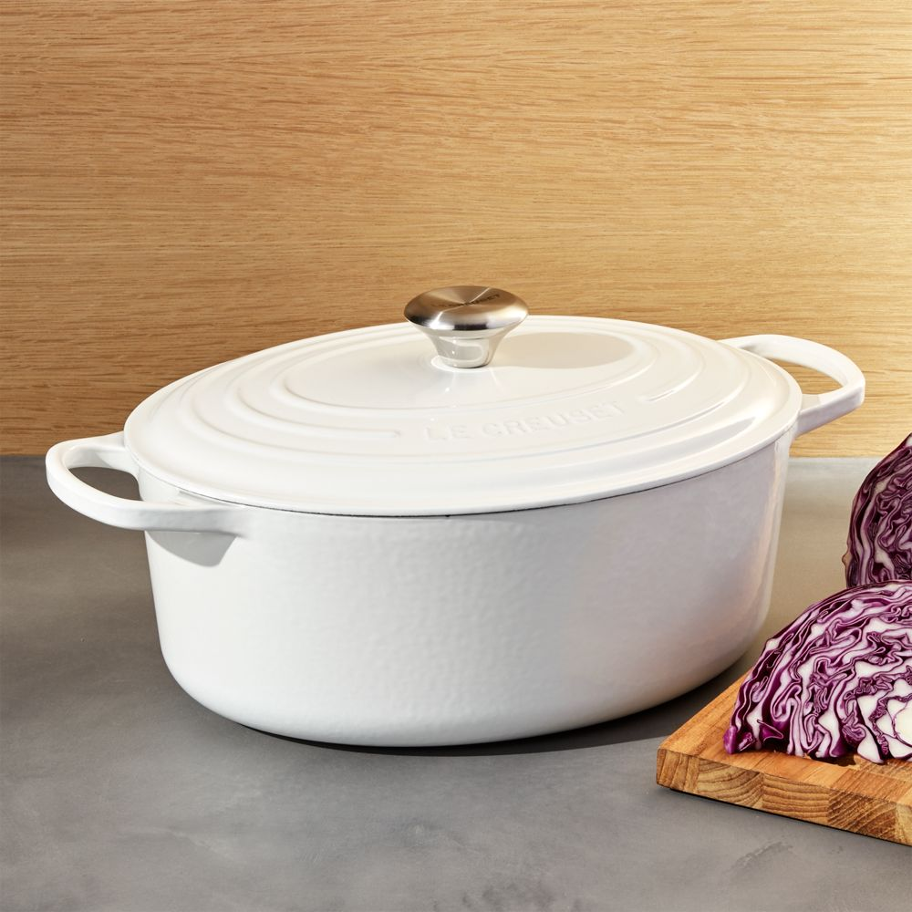 Le Creuset ® White 6.75-Qt. Oval French Oven - Crate and Barrel