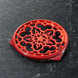 "Le Creuset ® Deluxe 9"" Cerise Red Trivet"