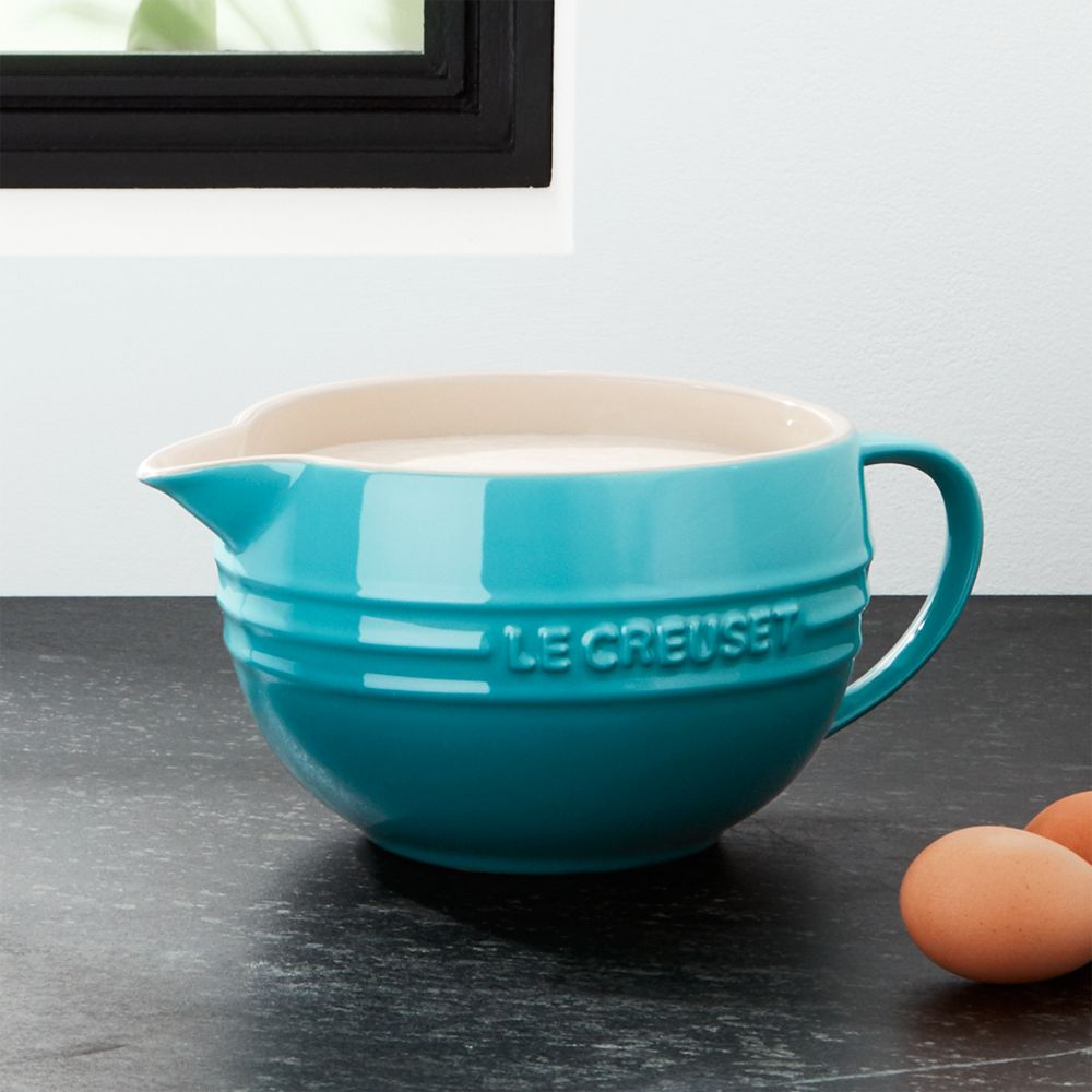 Le Creuset ® Caribbean Blue Batter Bowl - Crate and Barrel