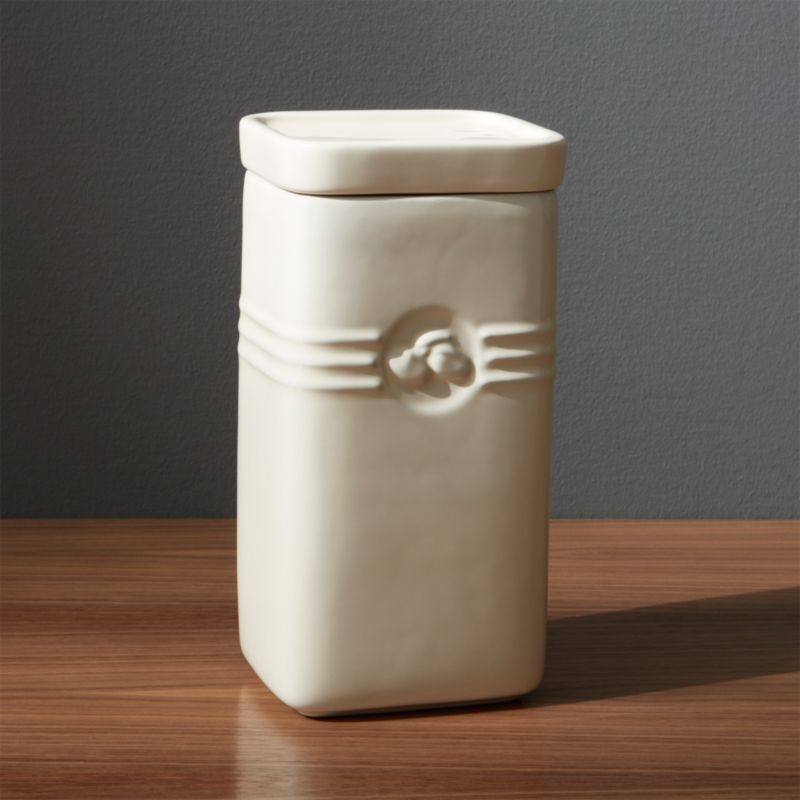 White Le Creuset Coffee Storage Jar Reviews Crate and Barrel
