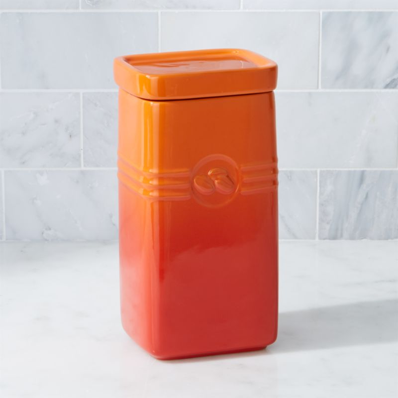Le Creuset Flame Coffee Storage Jar Reviews Crate and Barrel