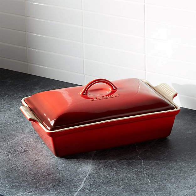Red Le Creuset Baking Pan Crate And Barrel