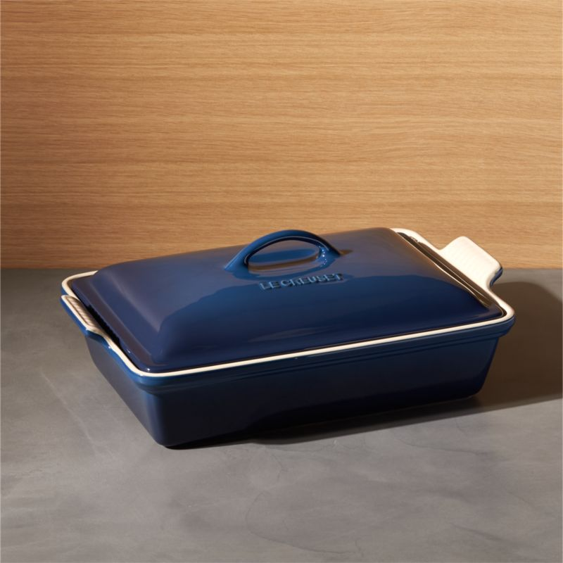Le Creuset ® Heritage Covered Rectangle Ink Baking Dish by Crate&Barrel