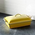Le Creuset ® Heritage Covered Rectangular Soleil Yellow Baking Dish