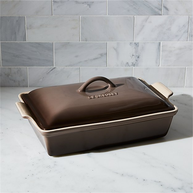 Le Creuset ® Heritage Covered Rectangular Truffle Brown Baking Dish