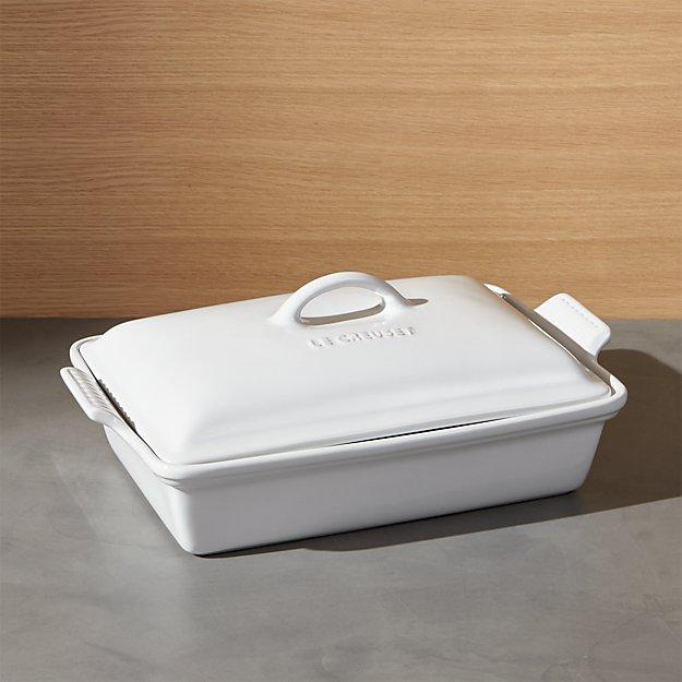 Le Creuset ® Heritage Covered Rectangular White Baking Dish