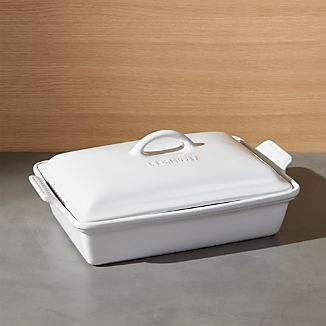 Le Creuset ® Heritage Covered Rectangular White Baking Dish