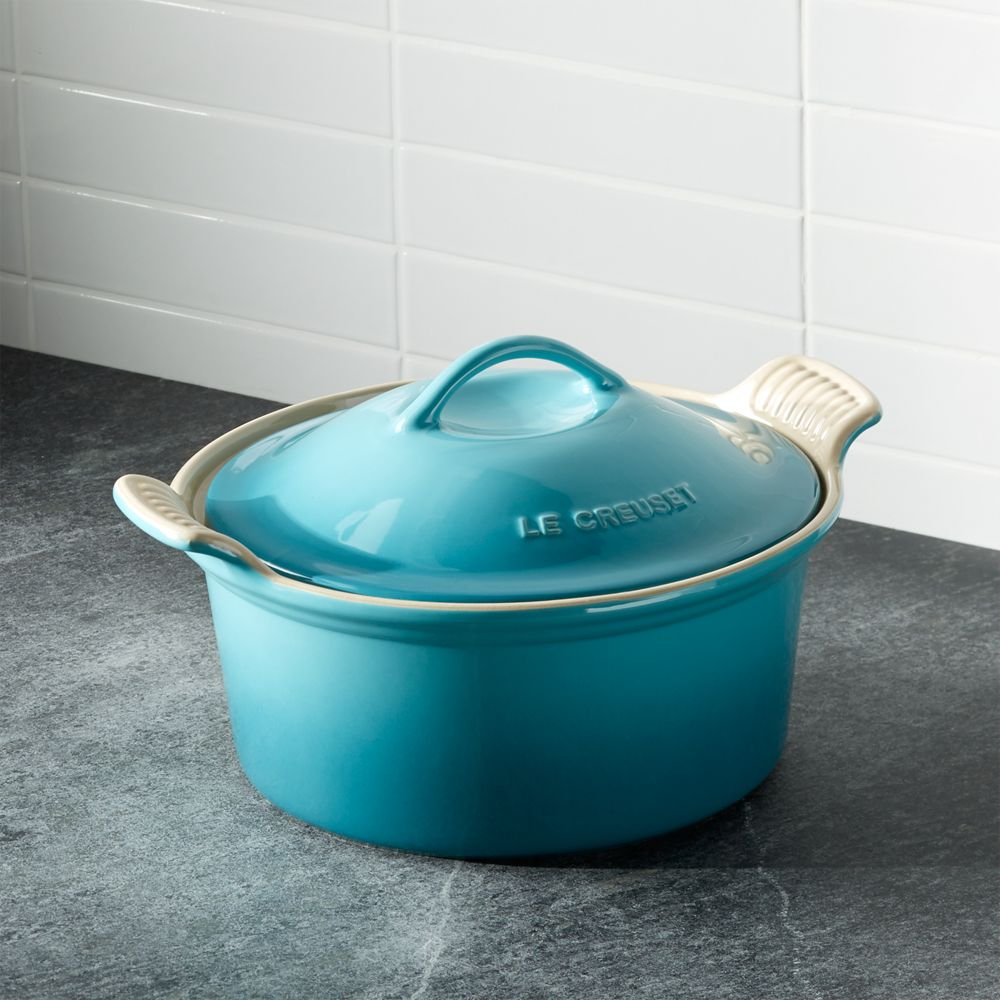 Le Creuset ® Heritage Covered Round Caribbean Baking Dish - Crate and Barrel