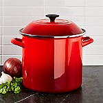 Le Creuset ® 10-Qt. Cerise Red Enamel Stock Pot with Lid