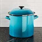 Le Creuset ® 10-Qt. Caribbean Blue Enamel Stock Pot with Lid