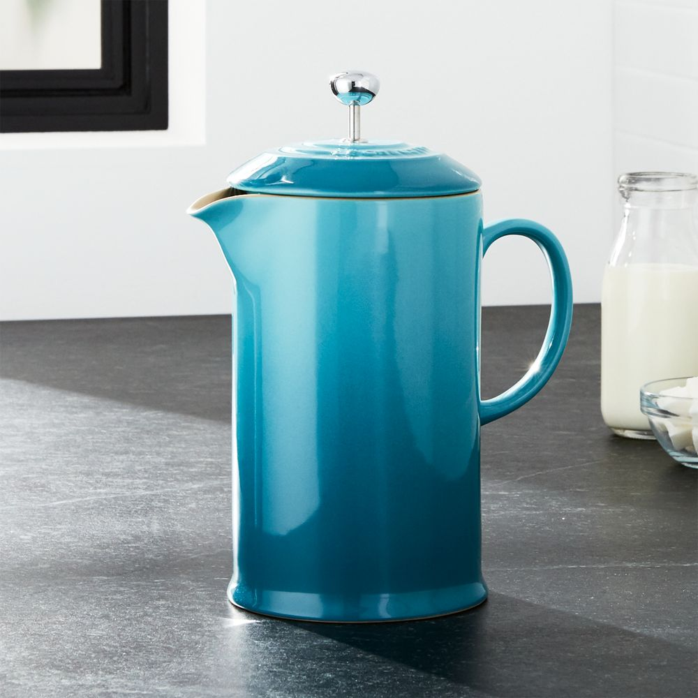 Le Creuset ® Caribbean French Press - Crate and Barrel