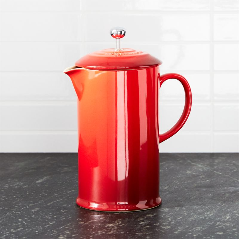 le creuset cerise french press reviews crate and barrel. Black Bedroom Furniture Sets. Home Design Ideas