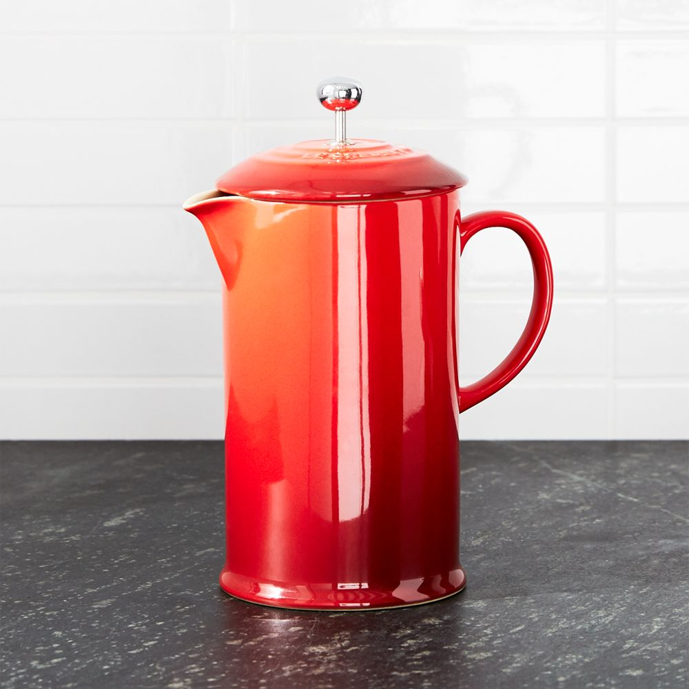 Le Creuset ® Cerise French Press - Crate and Barrel