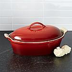 Le Creuset ® Heritage Cerise 2.5-Qt. Covered Oval Casserole