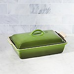 Le Creuset ® Heritage Covered Rectangle Spinach Green Baking Dish