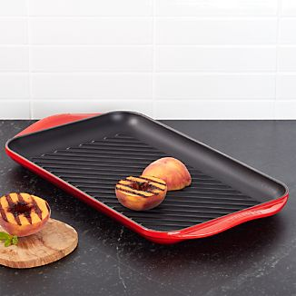 Le Creuset ® Cerise Red Double Burner Grill