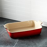 Le Creuset Heritage Rectangle Cerise Red Dish