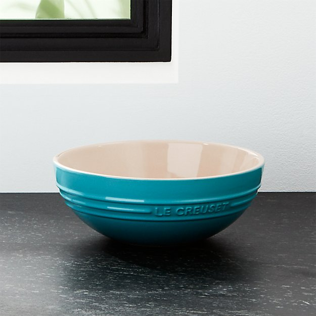 Le Creuset ® 1.7-Qt. Caribbean Blue Ceramic Multi Bowl