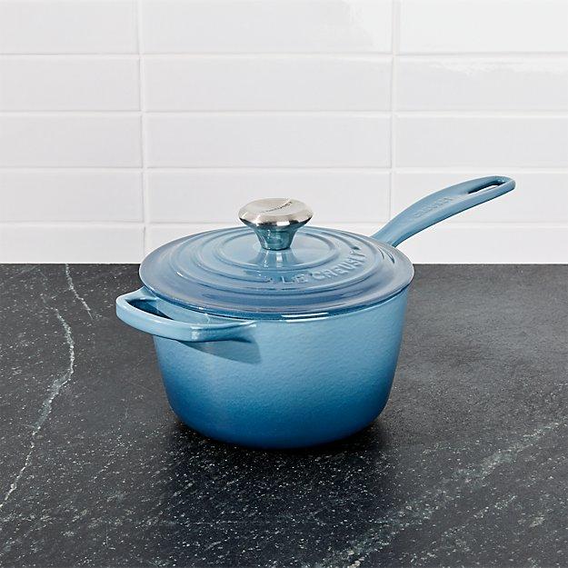 Le Creuset ® Signature 1.75-qt. Marine Blue Saucepan with Lid