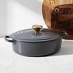 Le Creuset ® Signature 3.5-Qt. Graphite Grey Oval Wide Dutch Oven