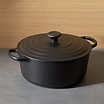Le Creuset ® Signature 7.25-Qt. Round Licorice Dutch Oven with Lid