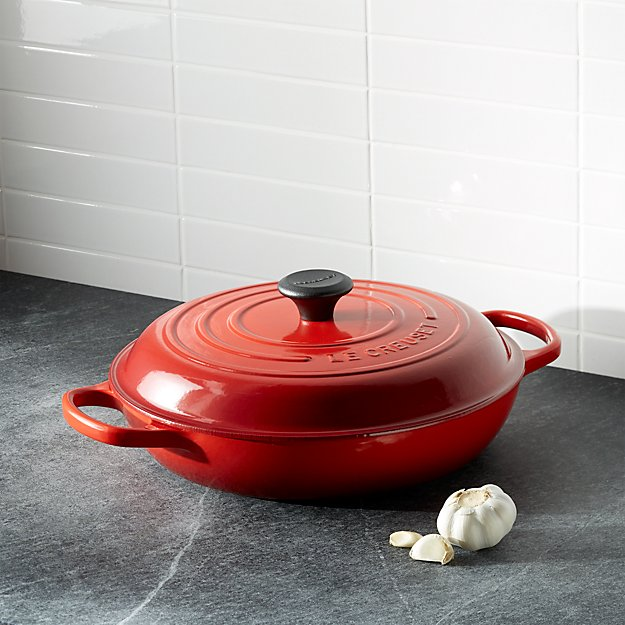 Le Creuset ® Signature 3.75 qt. Cerise Red Everyday Pan