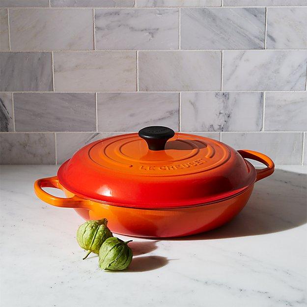 Le Creuset ® Signature 3.75-qt. Flame Orange Everyday Pan