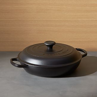 Le Creuset ® Signature 3.75 qt. Licorice Everyday Pan