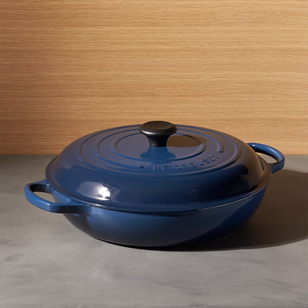 Le Creuset ® Signature 5-Qt. Ink Everyday Pan with Lid - Crate and Barrel