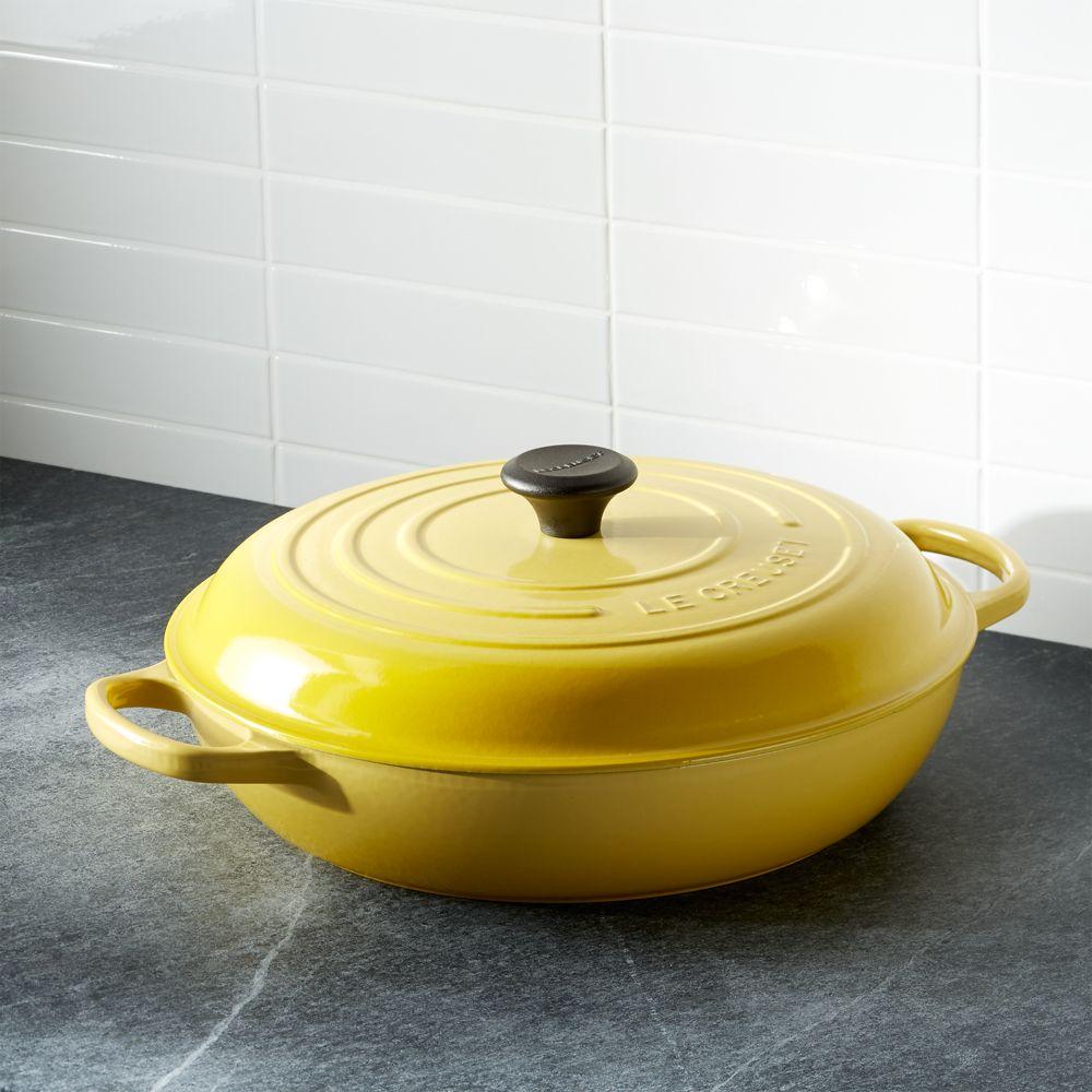 Le Creuset ® Signature 3.75-qt. Soleil Everyday Pan - Crate and Barrel