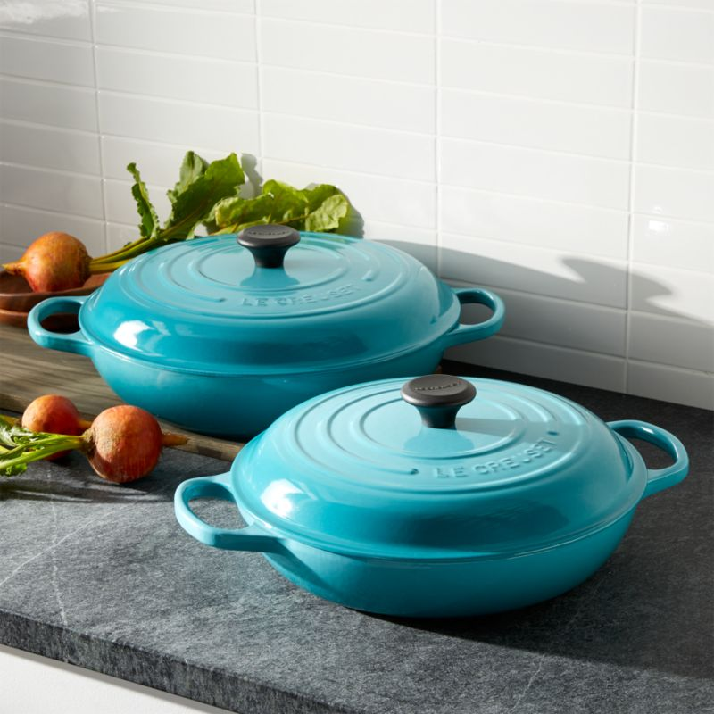 le creuset signature caribbean everyday pan crate and barrel. Black Bedroom Furniture Sets. Home Design Ideas